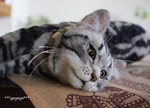 felt cat by ***yayayay***