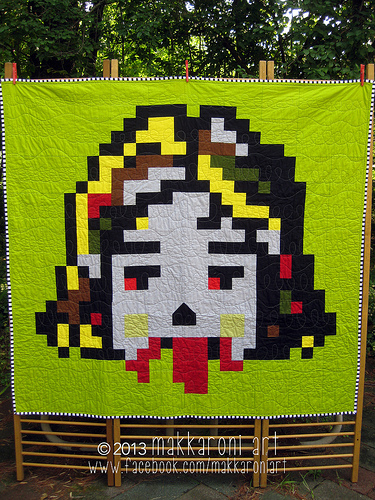 Zombie Girl quilt by Makkaroni Art