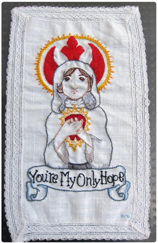 Urka's Princess Leia Hand Embroidered Doily