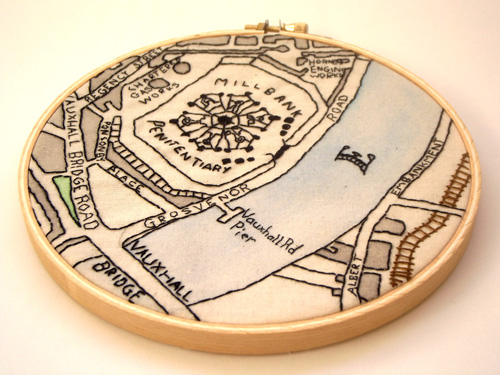 Millbank Penitentiary by Alex Hughes (Hand embroidery)
