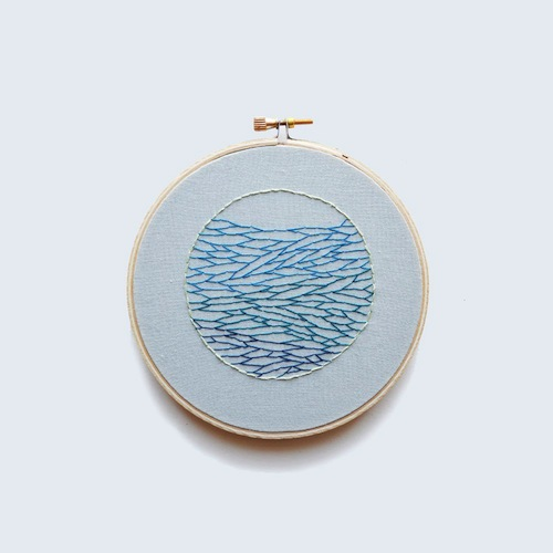 Ocean View by Sarah K Benning (Hand embroidery)