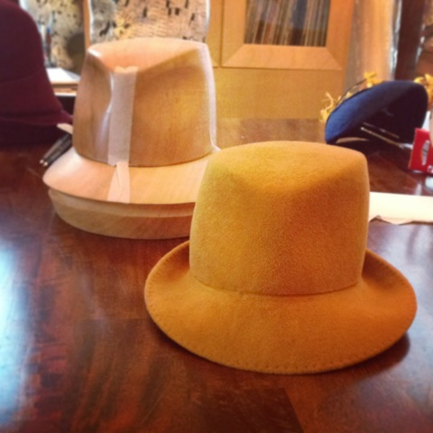 Modified Fedora and Snap Brim Blocked Hat