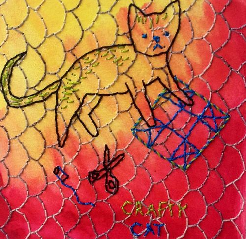 Crafty Cat by Olisa Corcoran.