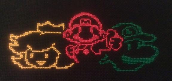Mario, Peach & Luigi by ashntoph