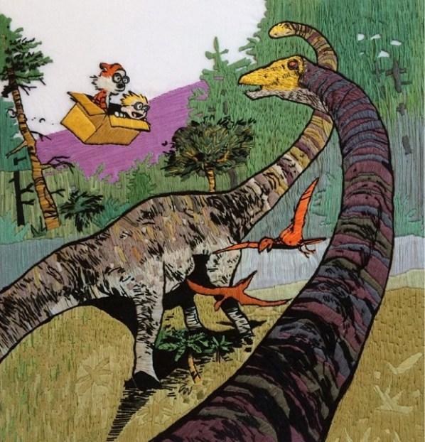 Stitchgasm – Calvin & Hobbes by Laura Hartrich