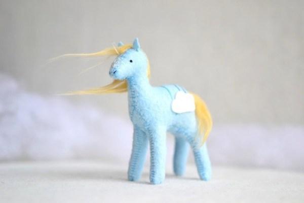 Sabina Gibson - Cloud Crystal Pony - Soft Sculpture
