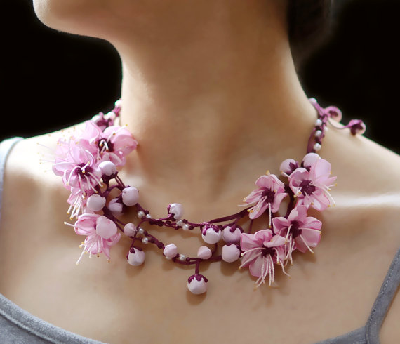 ZoraHolly - Romantic Sakura Necklace