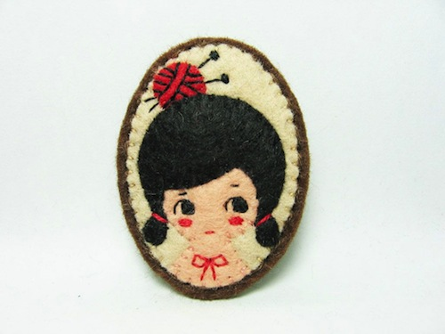 Alina Bunaciu Daily Knitter Brooch Mr X Stitch