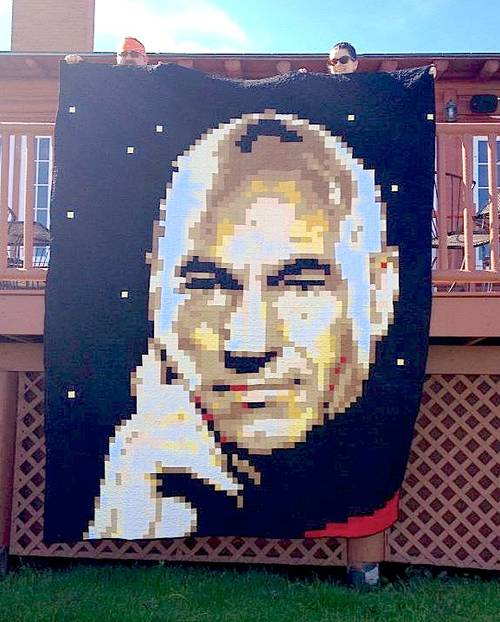 Craftster Pick of the Week – Jean Luc Picard Quilt
