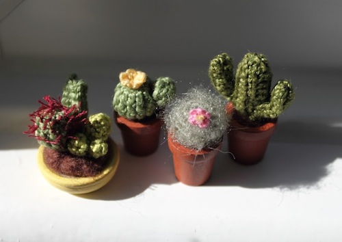 Miniature Cacti by FancyKnittles (Crochet)