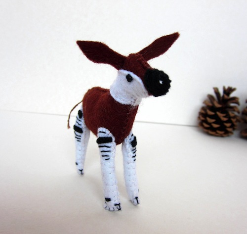 Miniature Okapi by The Ladybird Tree (Soft Sculpture)