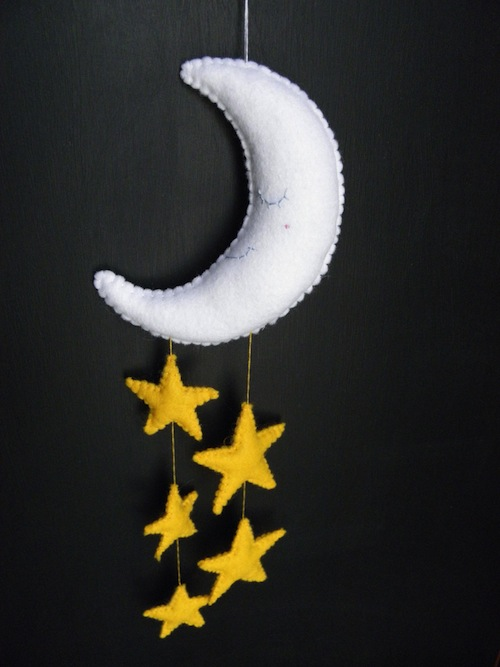 Moon Mobile by The Ladybird Tree (Hand Embroidery)