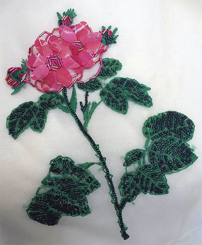 First Embroidery by Myra Chung: Rose