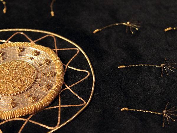Julia Titchfield, goldwork detail from 2014 Prize for Embroidery entry