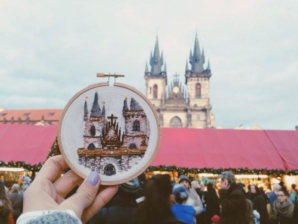 Teresa Lim - Sew Wanderlust Prague - Hand Embroidery