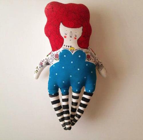 Four Legged Girl by Blue Raspberry Designs (Soft Sculpture)