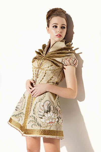 Myra Chung, Hand & Lock Prize for Embroidery competition dress