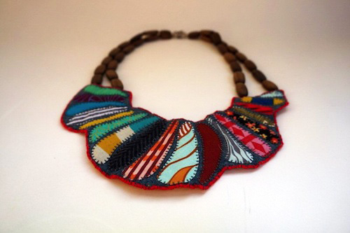 Elizabethan Bib Necklace by The Neon Forest (Hand Embroidery)