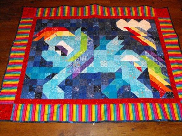 Rainbow Dash Quilt
