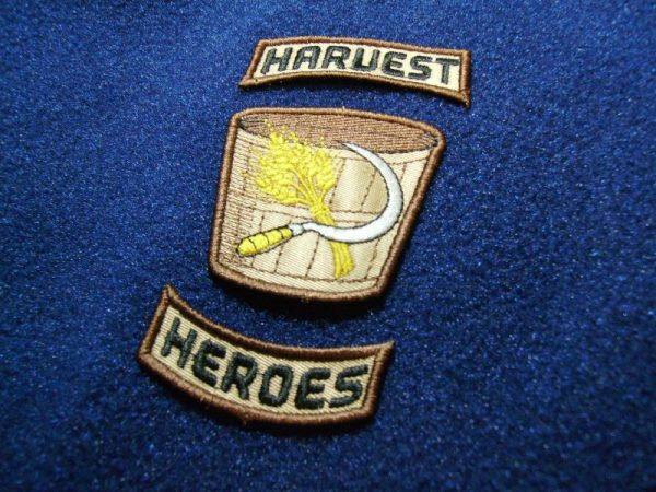 Finished Harvest Heroes Patches by Erich Campbell
