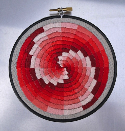 Shades of Red Colour Wheel by The Grumpy Crafter (Hand Embroidery)