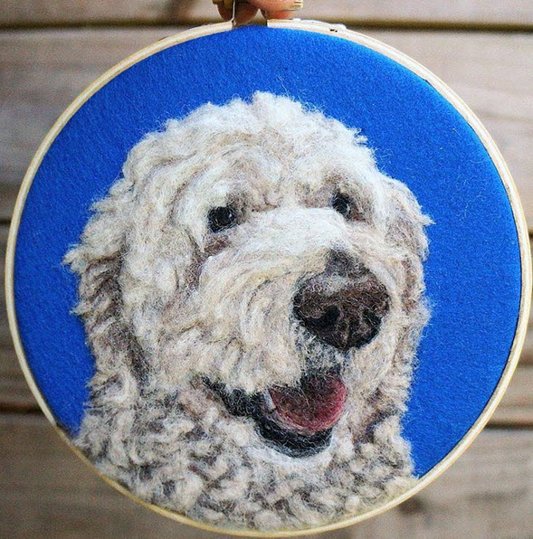 Needlefelted Dog Portrait, by Be Good Natured.