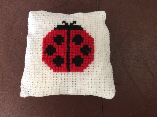 Niamh Ward's Cross Stitch Ladybird