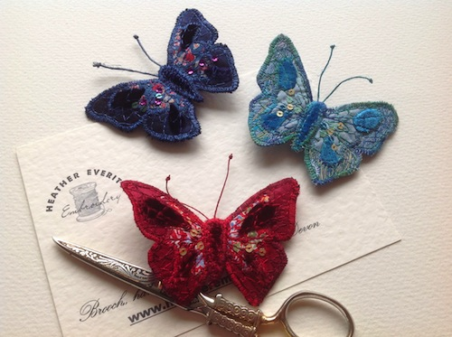 Liberty Belle Brooches by Heather Everitt Embroidery (Machine Embroidery)