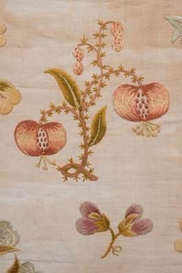 Pomegranates on a 19th century sampler