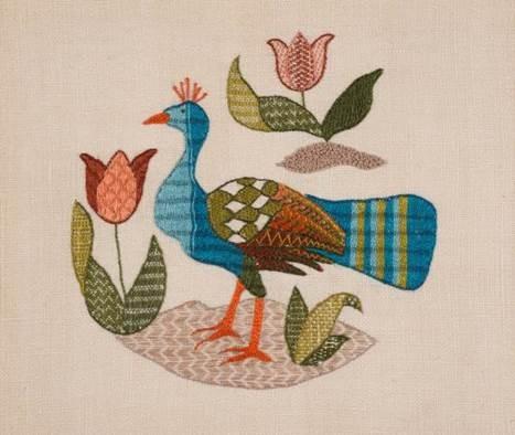 Royal School of Needlework Peacocks & Pomegranates Exhibition