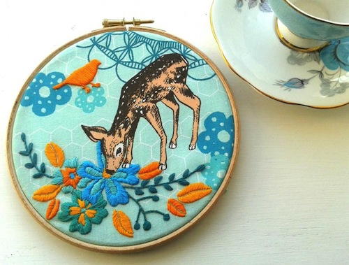 Little Fawn Embroidery Kit by Jenny Blair Art (Hand Embroidery)