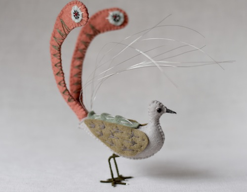 Lyrebird by Fantails and Feet (Soft Sculpture)