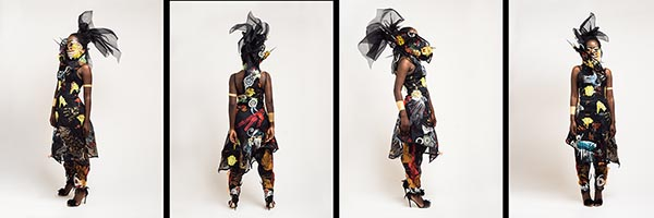 Jacky Puzey, Nigerian Riot Girl, Hand & Lock Prize for Embroidery