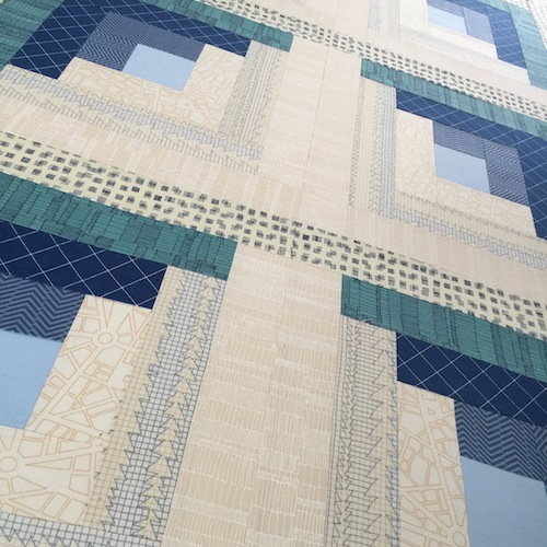 Skinny Malinky Quilts - Blue Modern Quilt