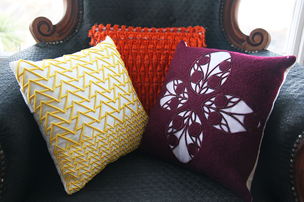 Bespoke cushions, by Alice Selwood