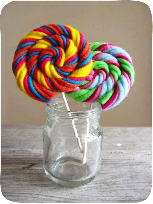 Milkfly - Felt Swirly Lollipops