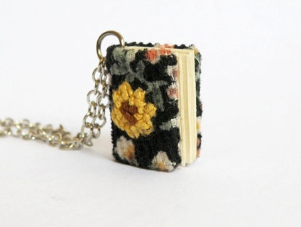 Sunflower book necklace, Her Sweet Embrace.
