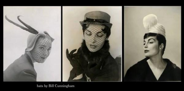 "Bill Cunningham's millinery work (screen capture from the film ""Bill Cunningham New York"")."