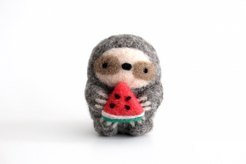 Wild Whimsy Woolies - Sloth with Watermelon