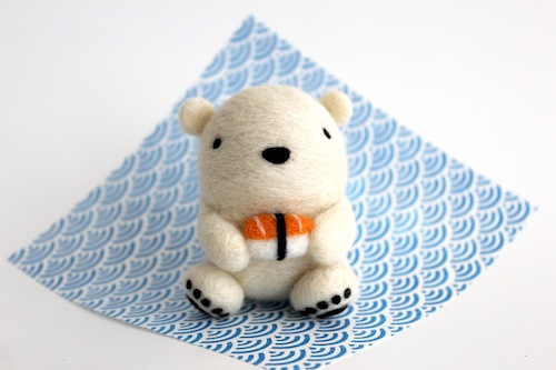 Wild Whimsy Woolies - Polar Bear with Nigiri Sushi