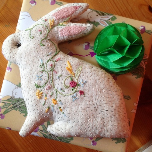Woodland Tale - Embroidered Bunny