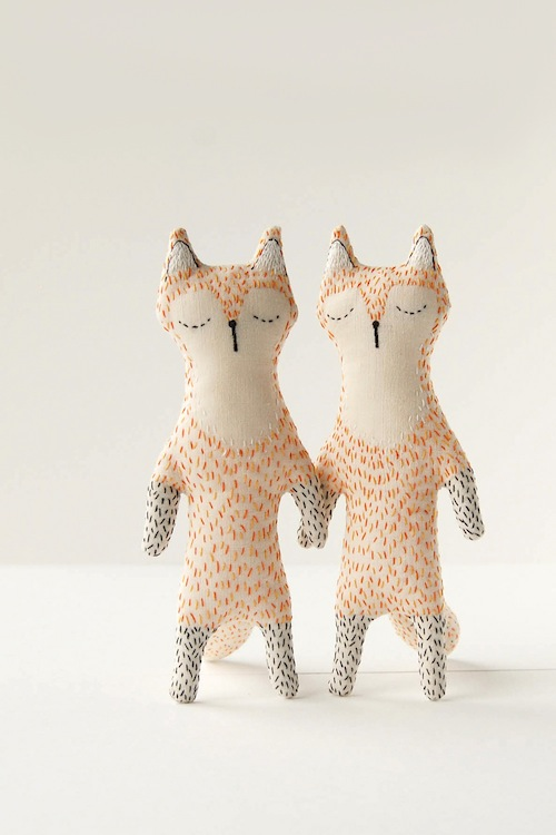 Woodland Tale - Embroidered Foxes