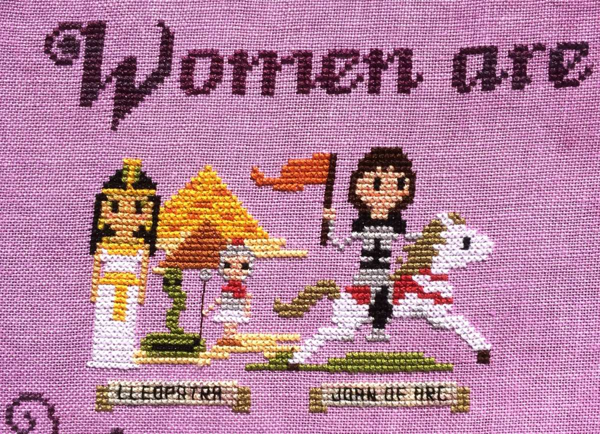 Too Cute Tuesday – Fab Women in History, stitched by Crystal Rhew Staley