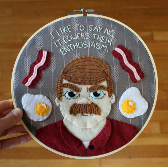 Craftster Pick of the Month – Ron Swanson Hoops