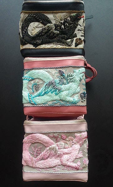 Embroidered bags by Elena Savelyeva