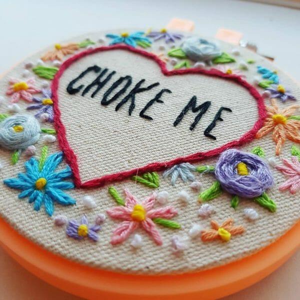 Marin Boyle - Choke Me - Hand Embroidery