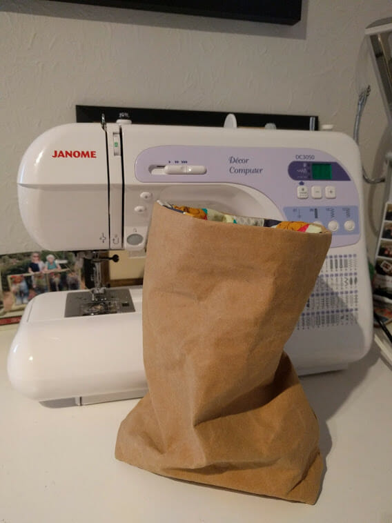 Craft Rocks – Is it paper? Is it fabric? Crikey, it's both – with my sarnie inside!