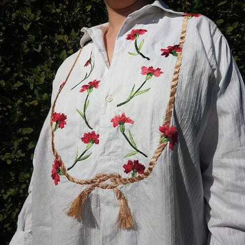Embroidery by KG Design - Embroidered Antique Smock