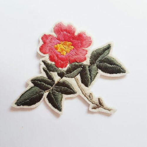 Embroidery by KG Design - Dog Rose Patch