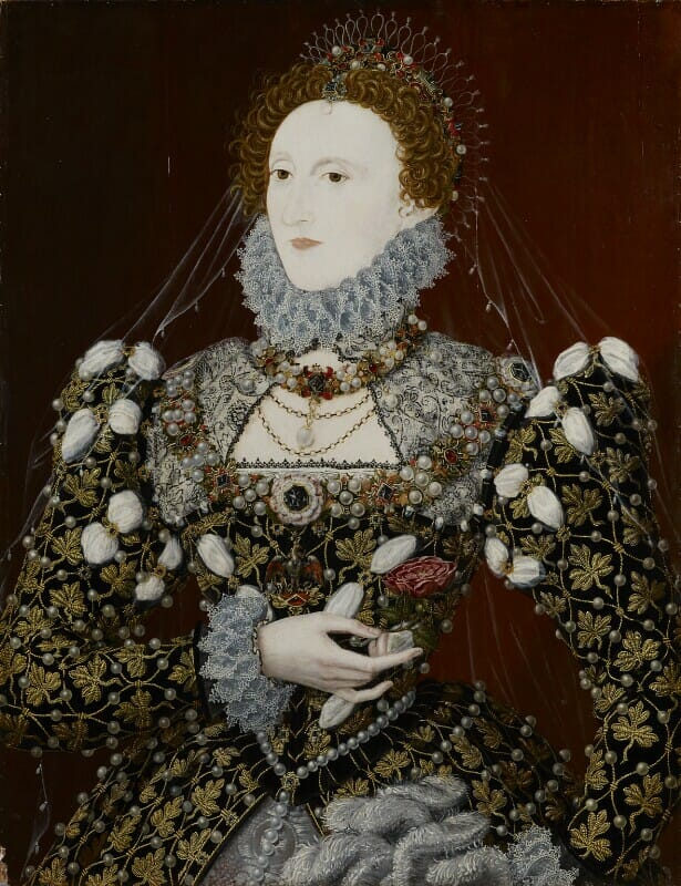 'The Phoenix' Portrait of Queen Elizabeth I by Nicholas Hilliard 1575